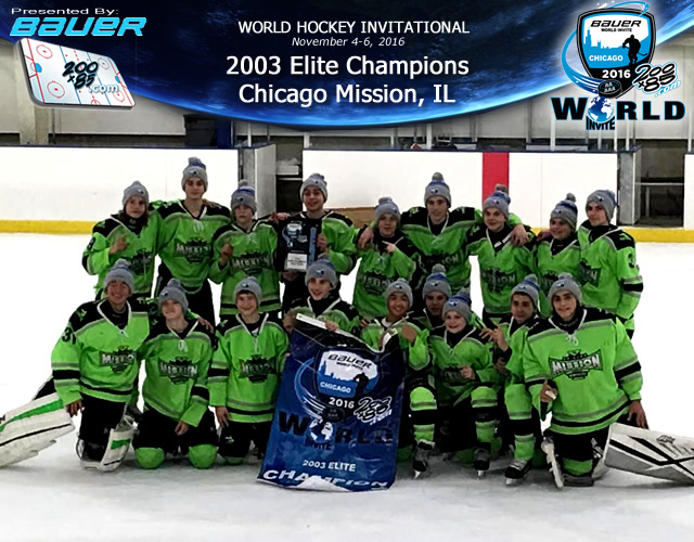 Mission 2003's Bauer World Invite Champions