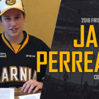 2018 First Round Selection Jacob Perreault Commits to the Sarnia Sting