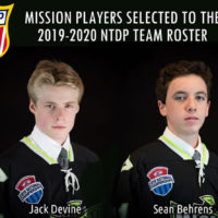 Two(2) Mission Players selected to the 2019-20 NTDP Team Roster