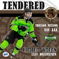 Mission's B18U Carter Green Signs Tender