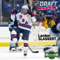 Mission Alum LANDON SLAGGERT drafted in 3rd Round in the 2020 NHL Draft