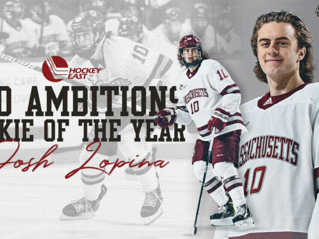 Mission Alum Josh Lopinanamed Hockey East Pro Ambitions Rookie of the Year!